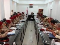 اللواء الزنداني يترأس اجتماعا للقيادات العسكرية بالعاصمة عدن