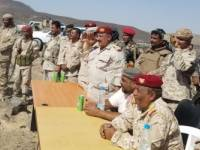 قائد المنطقة الرابعة يشهد حفل تدشين العام التدريبي باللواء ١٠٣ بمحافظة أبين