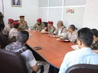 قيادة محور تعز تناقش مع قادة الألوية مجمل التطورات الميدانية والعسكرية في المحافظة
