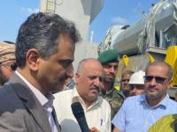 لملس والشعبي يستقبلان ابراج وتجهيزات محطة كهرباء عدن الجديدة