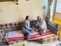 الارياني يزور الموسيقار الكبير الفنان احمد بن غودل في منزله بعدن