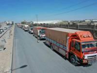 وصول قافلة غذائية إلى مأرب مقدمة من أبناء محافظة المهرة