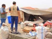 مأرب.. قصف الحوثي للمخيمات يجبر 555 أسرة على النزوح مجدداً