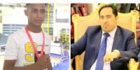 """وزير الشباب والرياضة يبارك للبطل """"فارض ثابت"""" تحقيقه ذهبية الجودو العربية"""