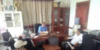 مدير تربية لحج يستقبل فريق التوعية بمخاطر الألغام التابع لمنظمة الـDRC