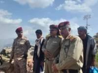 قيادة محور تعز تتفقد المقاتلين في قطاع اللواء الرابع مشاه جبلي